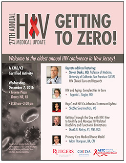 image of postcard advertising 2016 HIV Clinical Update: The New Jersey Statewide Symposium