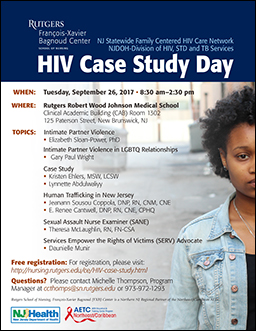 image of flyer advertising 2017 HIV Case Study Day.