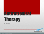 screen shot of title slide for Antiretrovial Therapy Self Study Module.
