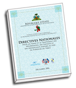 Picture of Haiti National Guidelines cover. Click here to download.