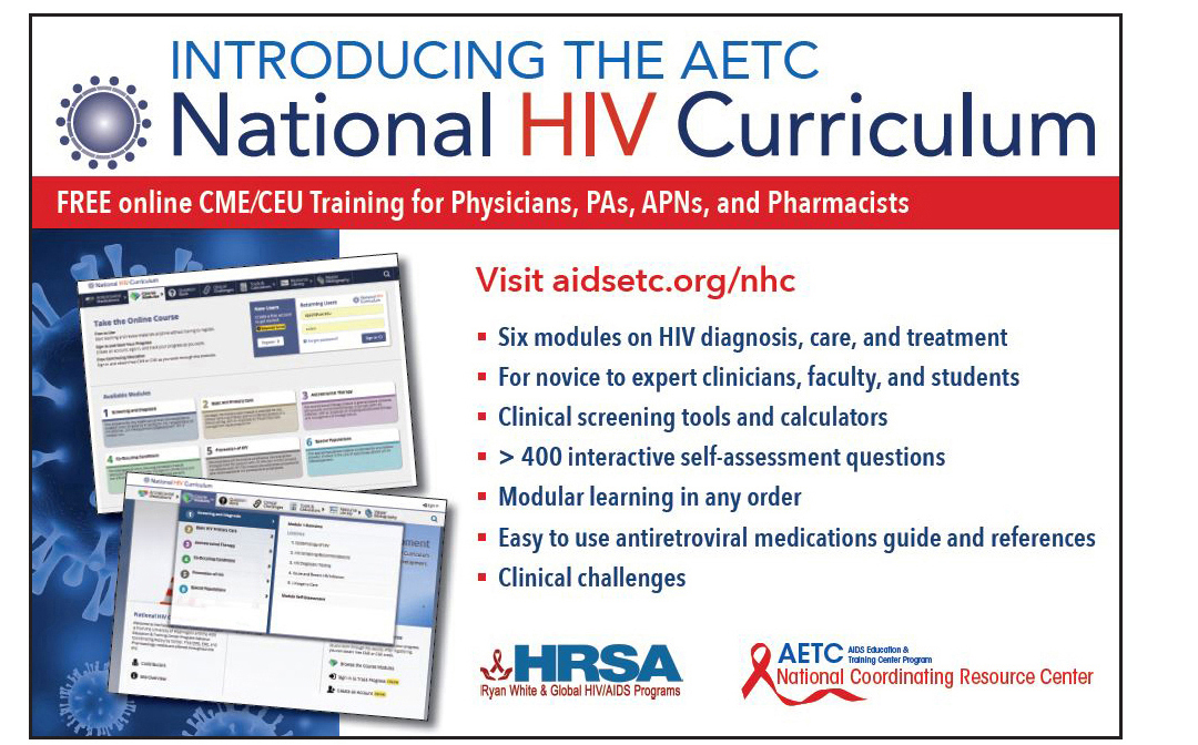 Image of postcard advertising AETC National HIV Curriculum
