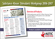 Image of Substance Abuse Stimulants Workgroup postcard